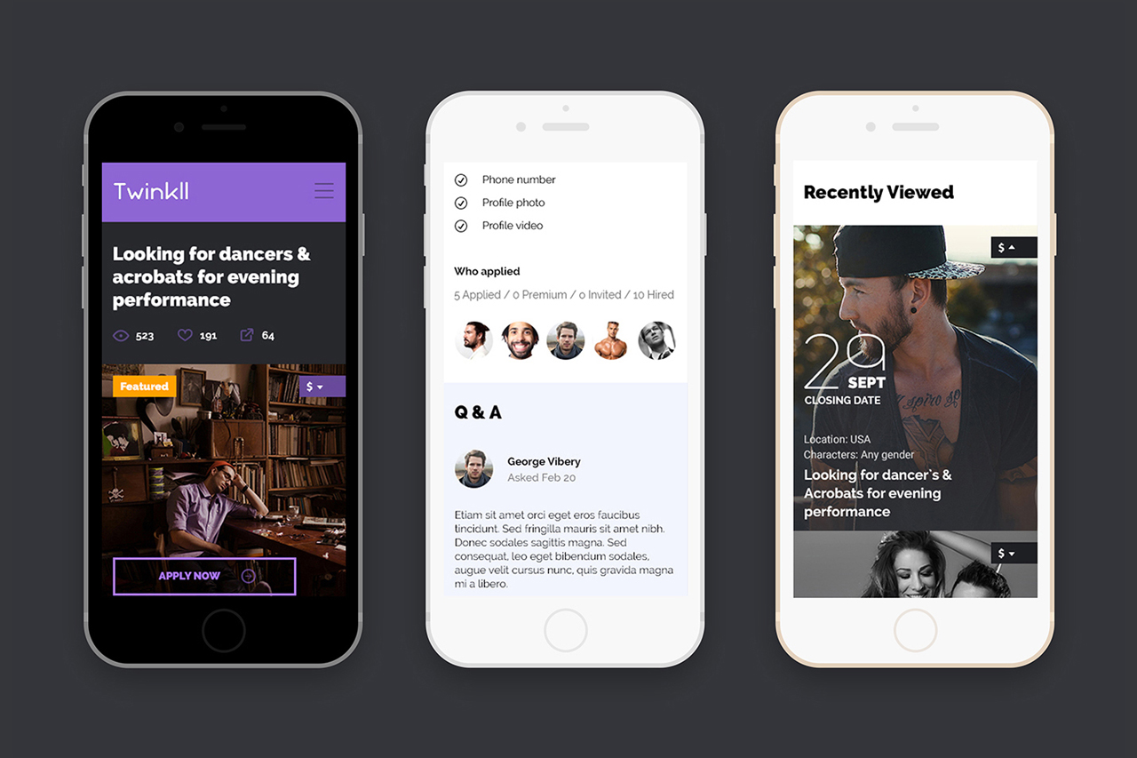 Twinkll-mobile-first-homepage-discovery-social-online-casting-audition-service-website-by-basov-design