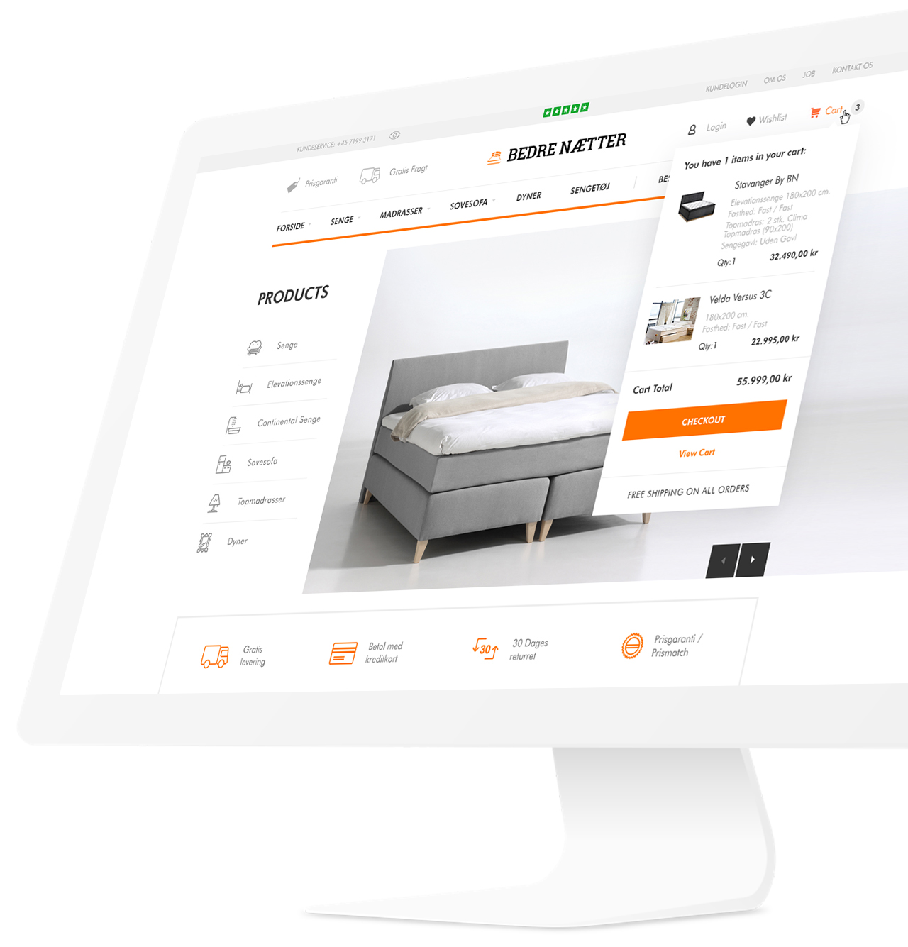 Bedre Naetter magento 2 website design by basov design
