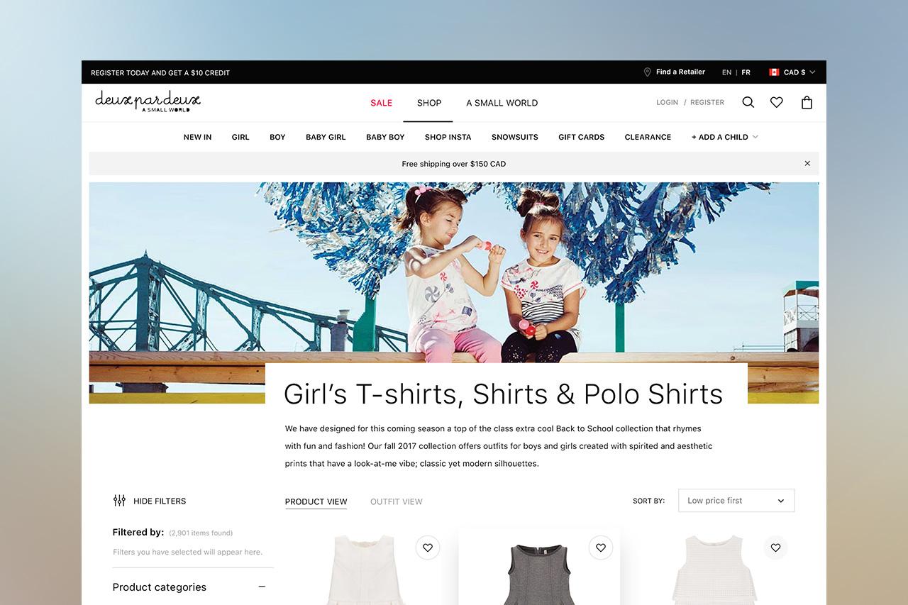 deuxpardeux.com website ux ui design by basov design 2018